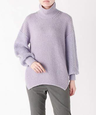 [Clothing ISETAN MITSUKOSHI] 異素材ドッキング袖パイルタートルネックセーター