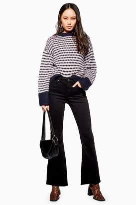 Topshop Petite Black Flare Jamie Jeans