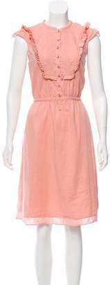 Marc by Marc Jacobs Ruffle-Trimmed Knee-Length Dress