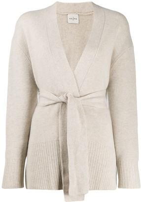 Le Kasha long-sleeve draped cardigan