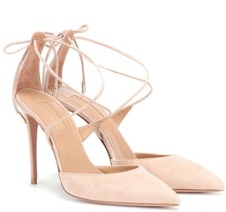 Aquazzura Very Matilde 105 suede pumps