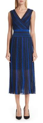 Missoni Metallic Stripe Midi Dress
