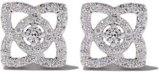 De Beers 18kt white gold Enchanted Lotus diamond stud earrings