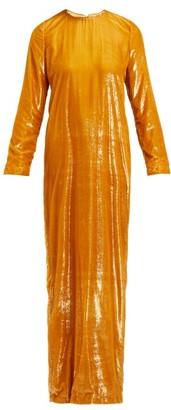 Marques Almeida Marques'almeida - Tinsel Maxi Dress - Womens - Gold