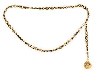 Bottega Veneta Chain-Link Logo Charm Belt
