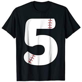 Number BASEBALL Team Shirt - 5 Pitcher Batter Tee
