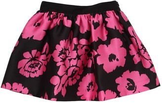 Milly Minis Flowers Printed Twill Skirt
