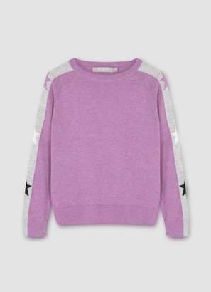Mint Velvet Purple Star Sleeve Jumper