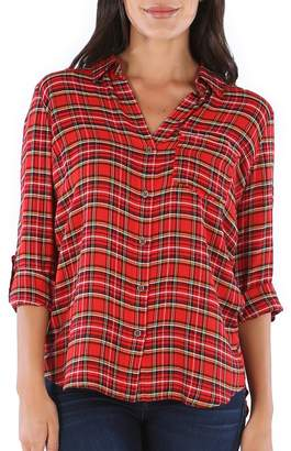 KUT from the Kloth Carine Plaid Button-Up Shirt