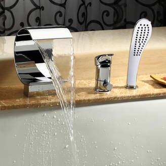 Kokols Single Handle Deck Mount Tub Faucet with Hand Shower