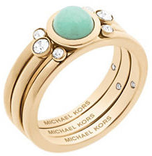 MICHAEL Michael Kors Michael Kors Easy Opulence Mountain Jade & Crystal Ring