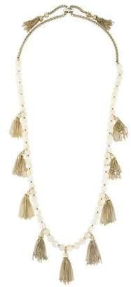 Kendra Scott Mother of Pearl Tassel Necklace