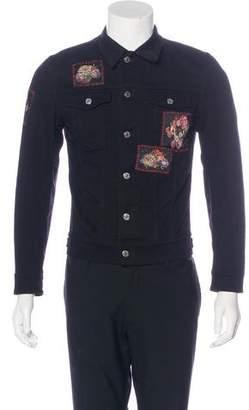 Christian Dior 2017 Floral Skull Trucker Jacket