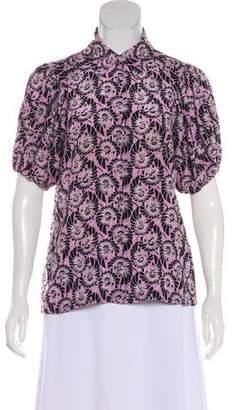 Prada Printed Short Sleeve Top