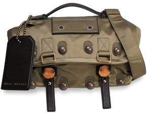 Marc Jacobs Leather-Trimmed Appliquéd Shell Shoulder Bag