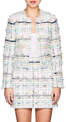Thom Browne Women's Cotton-Blend Tweed Collarless Jacket
