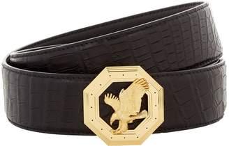 Stefano Ricci Octagonal Flying Eagle Crocodile Belt