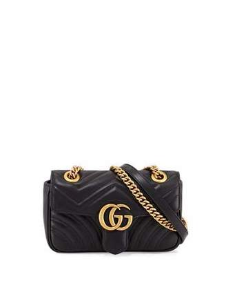 Gucci GG Marmont 2.0 Mini Quilted Leather Crossbody Bag, Black $1,590 thestylecure.com