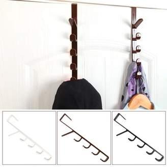 Heepo Multifunctional Door Hanger Hook Home Clothes Storage Holder Towel Hanging Rack