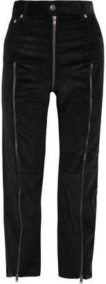 Vetements - Levi's Cropped Zip-detailed Corduroy Slim-leg Pants - Black $1,985 thestylecure.com