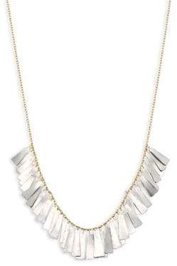 SIA Taylor Taylor Women's Feather 18K Yellow Gold& Platinum Necklace - Gold Platinum