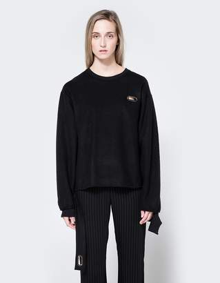 Collina Strada Sweatshirt Grommeted in Black
