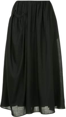 Jil Sander draped side pocket midi skirt