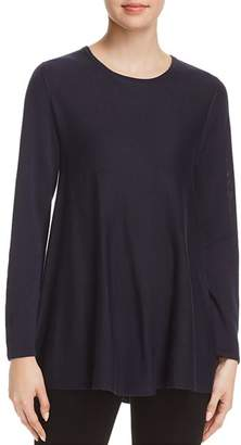 Eileen Fisher Petites Crewneck Tunic Top - 100% Exclusive