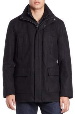 Calvin Klein Wool-Blend Walker Coat