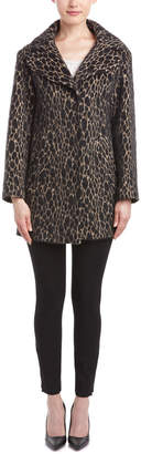 Karen Millen Texture Unstructured Wool-Blend Coat