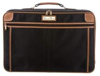 Oscar de la Renta Leather-Trimmed Canvas Carry-On