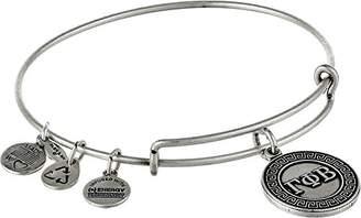 Alex and Ani Sorority Gamma Phi Beta Expandable Rafaelian Silver-Tone Wire Bangle Bracelet