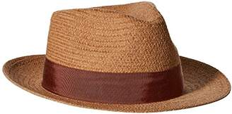 "Henschel Men's Fedora in Paper/Cotton Braid with 2"" Brim and Grosgrain Band"