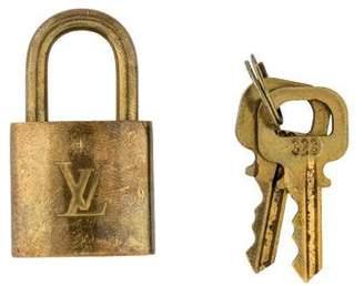 Louis Vuitton Brass Lock and Key Set