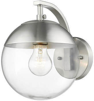 clear GOLDEN LIGHTING Dixon Sconce in Pewter with Glass