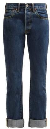Burberry Tartan Straight Leg Jeans - Womens - Blue Multi