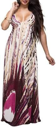Ramona Larue Ramona La Rue Maxi Print Dress
