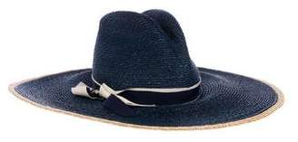 Veronica Beard Straw Wide Brim Hat