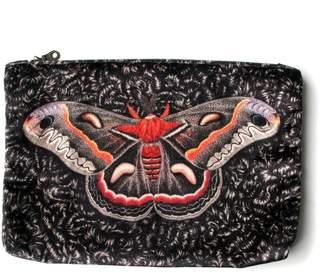 Arlette Ess Giant Silk Moth Velvet Clutch Bag Samia Cecropia