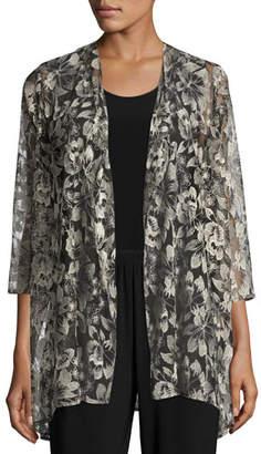 Caroline Rose Embroidered Mesh Draped Jacket $215 thestylecure.com