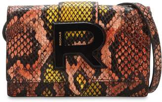 Rochas Snake Printed Leather Shoulder Bag