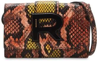 Rochas Snake Printed Leather Shoulder Bag