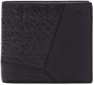 05b3e7cd3ca Loewe Puzzle Grained Leather Bi Fold Wallet - Mens - Black
