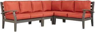 HomeVance Outdoor HomeVance Glen View Patio Sectional Sofa 4-piece Set