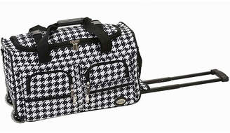 Rockland 22 Rolling Duffel Bag-Houndstooth