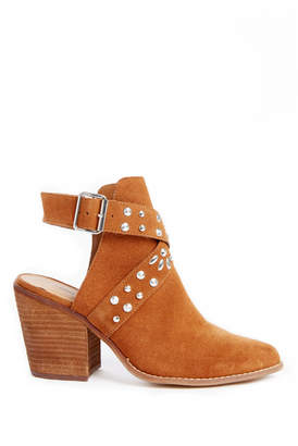 Chinese Laundry Small Town Open Back Ankle Strap Studded Bootie