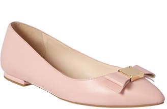 Cole Haan Tali Bow Leather Skimmer Flat