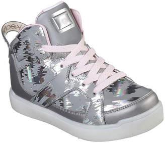 Skechers Energy Lights Girls Walking Shoes Lace-up - Little Kids/Big Kids
