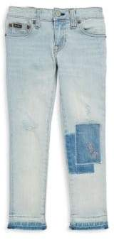 Ralph Lauren Toddler's, Little Girl's& Girl's Distressed Patched Jeans