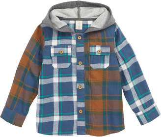 Tucker + Tate Mixed Plaid Hooded Shirt